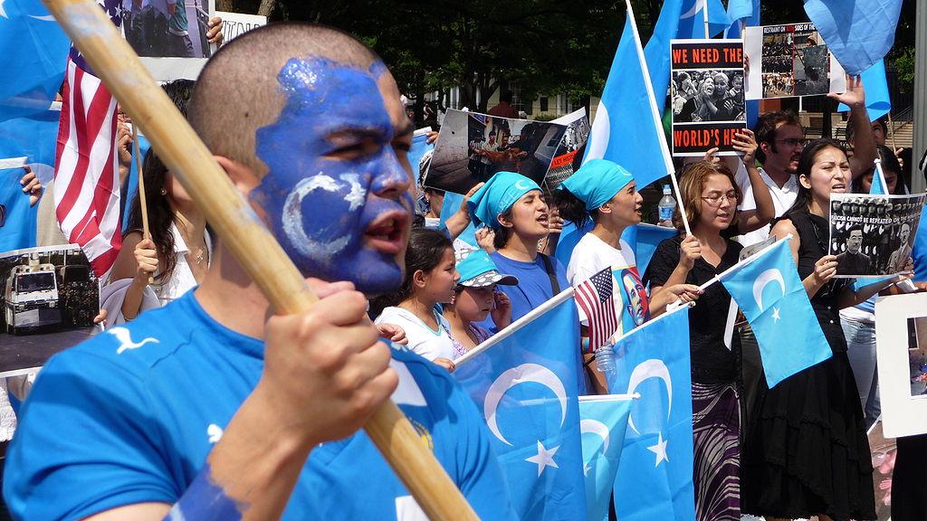 Uiguren-Protest gegen China in den USA.